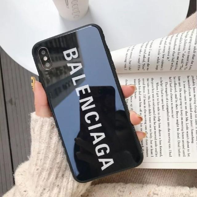 スマートフォン手帳型カバー | Balenciaga - iPhone XR ケース ブラックの通販 by raise shop|バレンシアガならラクマ