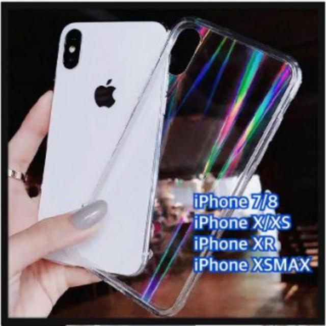 IPHONE XR iPhoneケース オーロラ ホログラム 加工 虹色の通販 by だい's shop|ラクマ