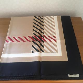 バーバリー(BURBERRY)のバーバリー 大判 シルク製のスカーフ(バンダナ/スカーフ)