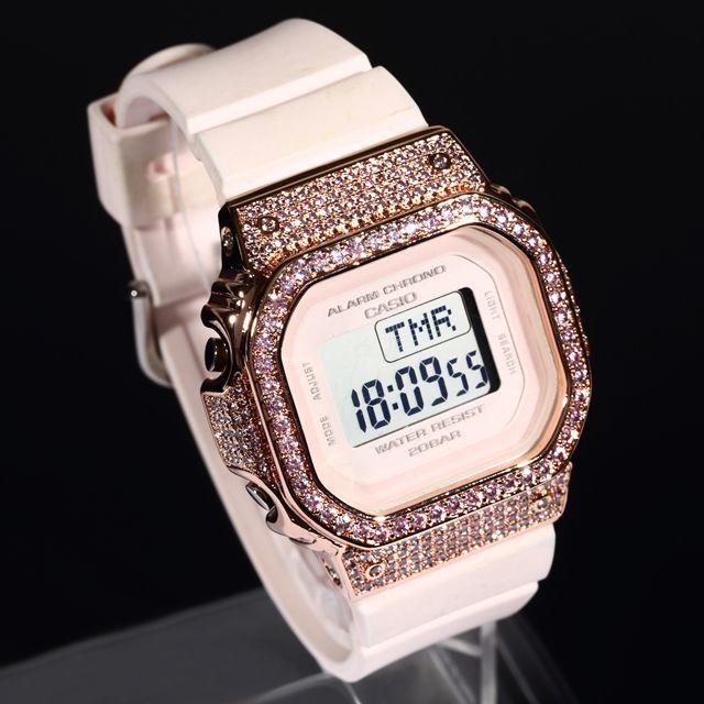 dior 時計 レプリカヴィンテージ 、 G-SHOCK - BABY-G ベイビーG ピンクゴールド CZダイヤ カスタム 女性 プレゼントの通販 by defrowjewelz|ジーショックならラクマ