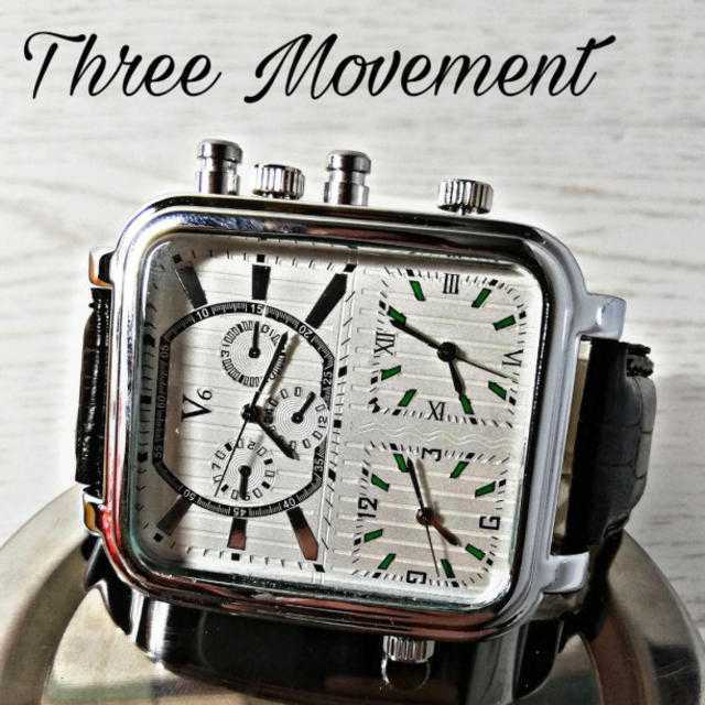 3〜three〜ムーブメント【V6SSW】メンズ 腕時計 ウォッチ クラシックの通販 by レオさくら's shop|ラクマ