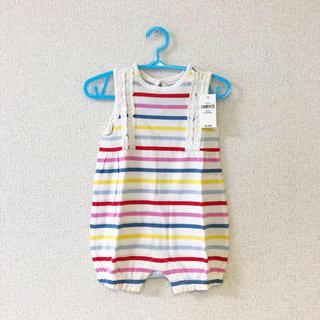 ベビーギャップ(babyGAP)の【新品】babyGap 夏物 ノースリーブロンパース 60(ロンパース)