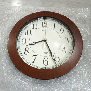 カシオ(CASIO)の(値下げ)CASIO 掛け時計 IQ-126 アナログタイプ(掛時計/柱時計)