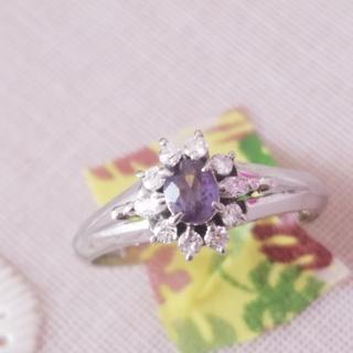 クーポン期間‼️ 最終値下 豪華‼️ アレキサンドライト  ダイヤモンド リング(リング(指輪))