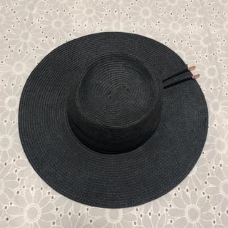 エイチアンドエム(H&M)のツバ広 ハット 女優帽 (麦わら帽子/ストローハット)