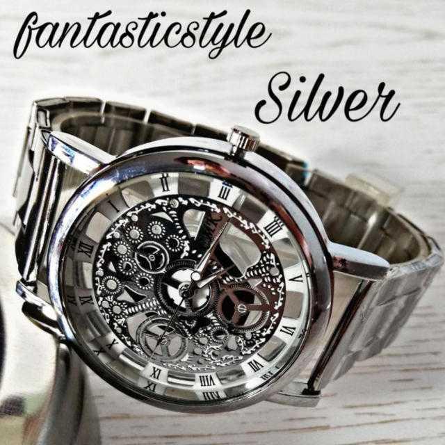スーパー コピー クロノスイス 時計 防水 、 Silver【海外限定ウォッチ】CMK  メンズ 腕時計?シルバーの通販 by レビサウンド's shop|ラクマ
