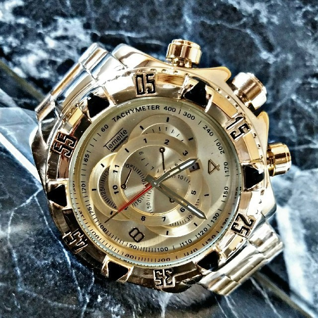カルティエ コピー 信用店 | 海外限定Tejy.Temiete【ゴールドマグナム】腕時計 ウォッチの通販 by さとこショップ|ラクマ
