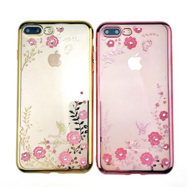 iphone7 ポリカーボネート ケース 、 iPhone クリアケース 花柄の通販 by 苺みるく's shop|ラクマ