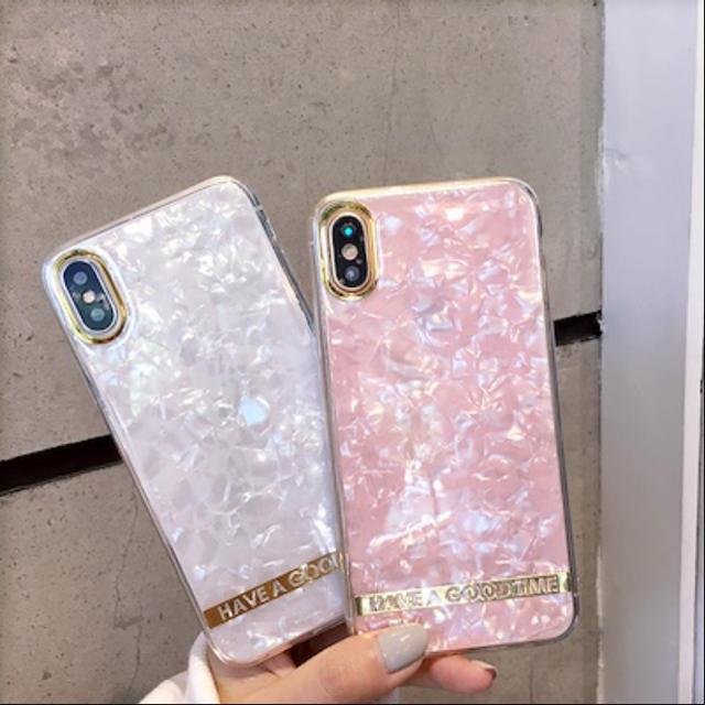 iPhone 大理石ケース クリスタル XR XSの通販 by 苺みるく's shop|ラクマ