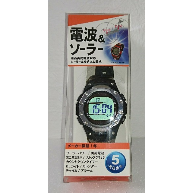 クレファー 電波腕時計 ソーラーパワー 5気圧防水の通販 by MOMO-SHOP|ラクマ
