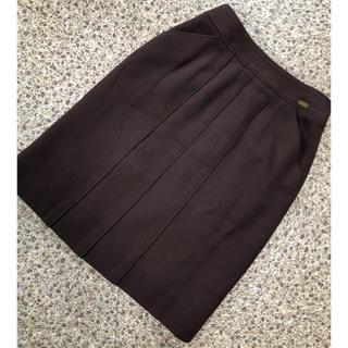 シャネル(CHANEL)のCHANEL シャネル 濃茶スカート 40 少々難あり(ひざ丈スカート)