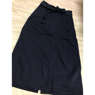 ユニクロ(UNIQLO)のUNIQLO ウエストリボン チノスカート S(ひざ丈スカート)