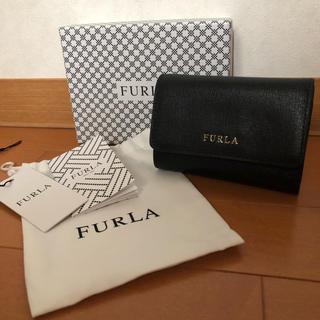 フルラ(Furla)のFURULA  バビロン 黒 三つ折り 財布(折り財布)