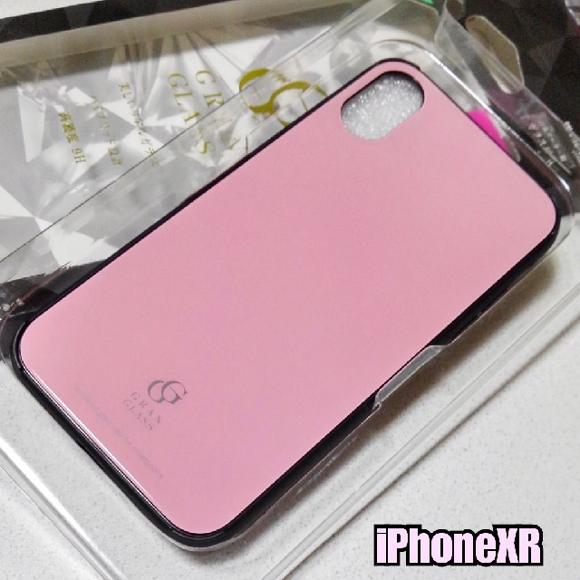 iPhoneXR ケース 高硬度★9Hガラス使用 ハイブリッド ピンクの通販 by ASUKA's shop|ラクマ