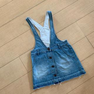 ジーユー(GU)のジーユー gu 120サイズ デニム スカート サロペ(スカート)