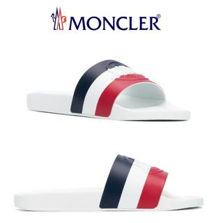 モンクレール(MONCLER)の【11】MONCLER BASILE ホワイトサンダル size 40(サンダル)