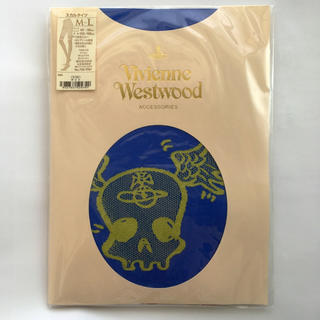 ヴィヴィアンウエストウッド(Vivienne Westwood)のヴィヴィアン/青×赤ボーダー/ドクロ/タイツ/M-L(タイツ/ストッキング)
