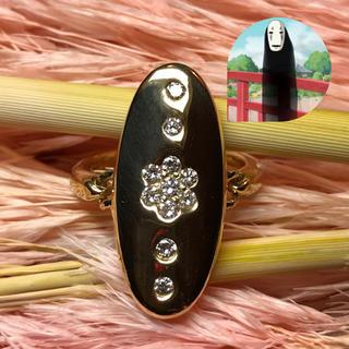 美超品✨アンティーク ゴールドダイヤモンドリング(リング(指輪))