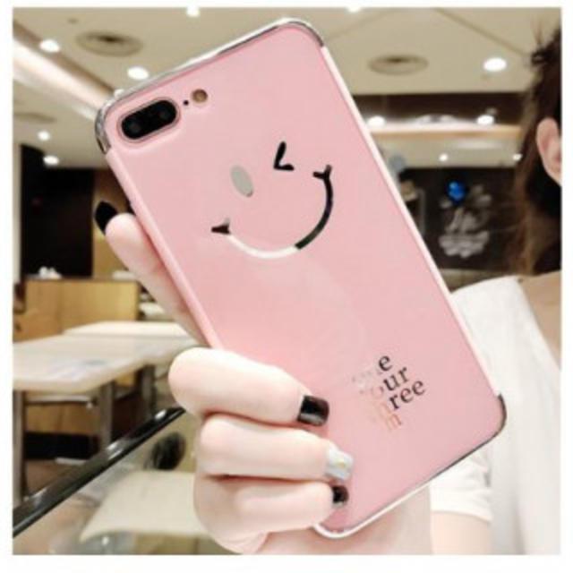 ルイヴィトン アイフォーンxs ケース 手帳型 | iPhone XR ケース ウィンク スマイリー スマホ カバー ピンク メッキの通販 by スタンスミス's shop|ラクマ