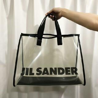 ジルサンダー(Jil Sander)のJIL SANDER PVC クリア トートバッグ ロゴ(トートバッグ)