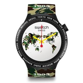 アベイシングエイプ(A BATHING APE)のBAPE SWATCH BIG BOLD THE WORLD(腕時計(アナログ))