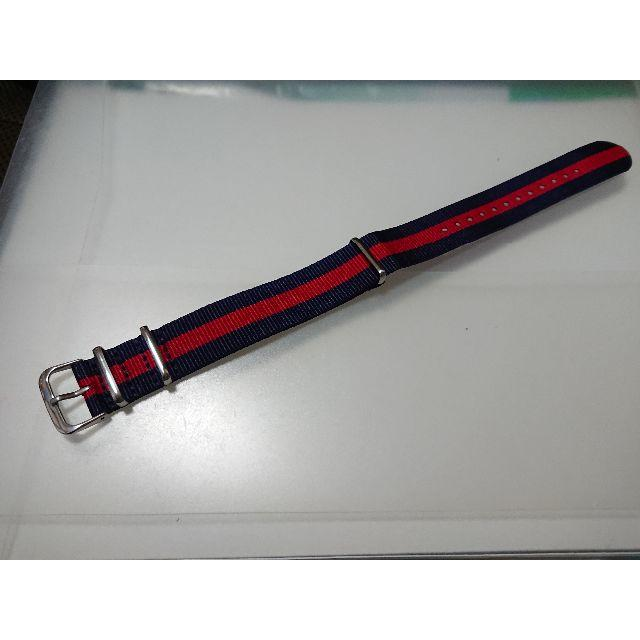 新品 腕時計 ベルト NATO 20mm 濃紺/赤 ナイロンの通販 by コメントする時はプロフ必読お願いします|ラクマ
