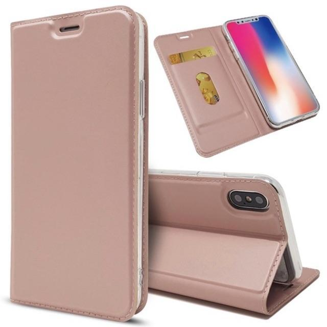 marveliphone8 ケース - スリム 薄型 手帳型 iPhoneケース iPhoneXR ピンクゴールドの通販 by ootan's shop|ラクマ