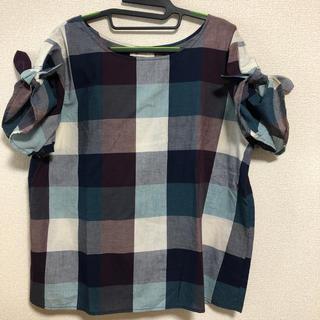 ソルベリー(Solberry)の大きいサイズ☆ソウルベリー ブロックチェックブラウス Lサイズ(シャツ/ブラウス(半袖/袖なし))