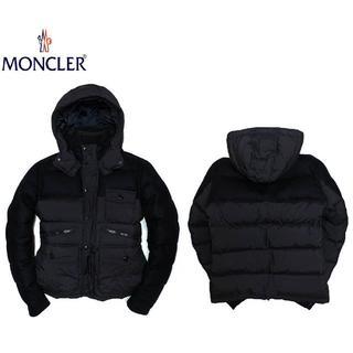 モンクレール(MONCLER)の正規品MONCLERモンクレールウールダウンジャケット/ネイビー5(XL) (ダウンジャケット)