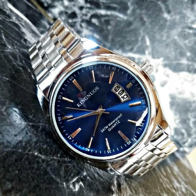 スーパー コピー ユンハンス 時計 特価 / 海外限定【KingnousS820】Silver blueモデル 腕時計 の通販 by さとこショップ|ラクマ