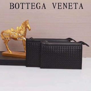 ボッテガヴェネタ(Bottega Veneta)のボッテガ・ヴェネタ ウェストポーチ カーフ ブラック 激安(ウエストポーチ)