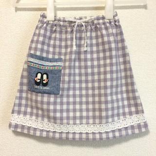 プチジャム(Petit jam)のプチジャム 110 チェック柄スカート パープル(スカート)