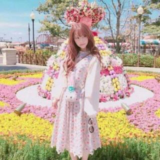 リリーブラウン(Lily Brown)のリリーブラウン 花刺繍 セットアップ 人気 完売商品(ミニワンピース)