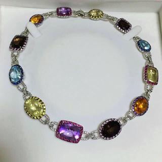 ✨豪華✨希少✨定500万 K18WG×ダイヤモンド×カラーストーン ネックレス✨(ネックレス)