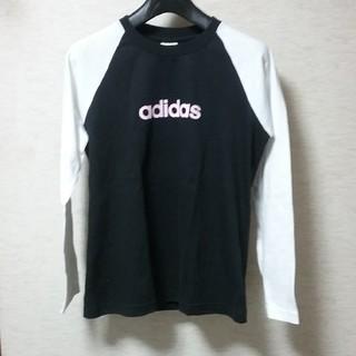 アディダス(adidas)のadidas アディダス レディース ラグランカットソー 7分袖Tシャツ(Tシャツ(長袖/七分))