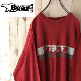 ベアー(Bear USA)の激レア 90s bear USA ビッグロゴ ロング Tシャツ ロンT デカロゴ(Tシャツ/カットソー(半袖/袖なし))