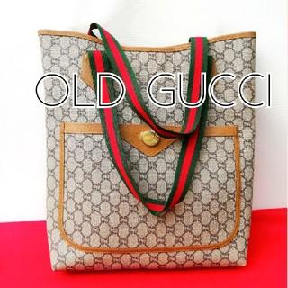 844783998f4d グッチ(Gucci)の良品 オールドグッチプラス シェリーライン ビンテージトートバッグ ハンドバッグ(