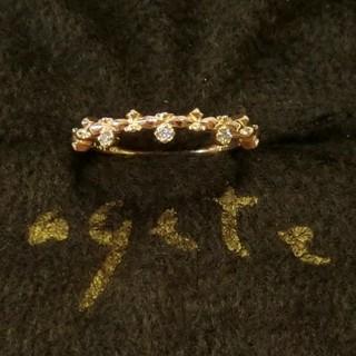 アガット(agete)のアガット 0.01ctダイヤモンド付K10ピンキーリング 5号(リング(指輪))