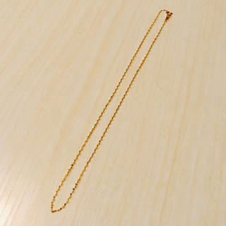ココシュニック(COCOSHNIK)のK18 イエローゴールド ネックレス スクリュー チェーン 40cm(ネックレス)