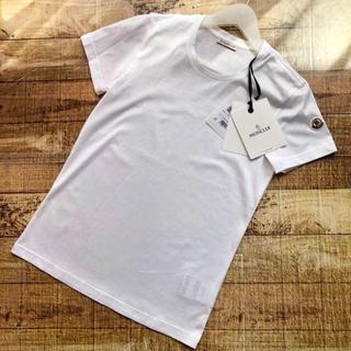 モンクレール(MONCLER)の新品 モンクレール ロゴ ワッペン シンプル Tシャツ ワンポイント(Tシャツ(半袖/袖なし))