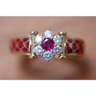 ひとこ様専用 K18 コルロフ ルビー ダイヤモンド リング (リング(指輪))