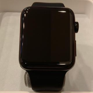 アップルウォッチ(Apple Watch)の(純正品) Apple Watch series2 42mm ブラックステンレス(腕時計(デジタル))