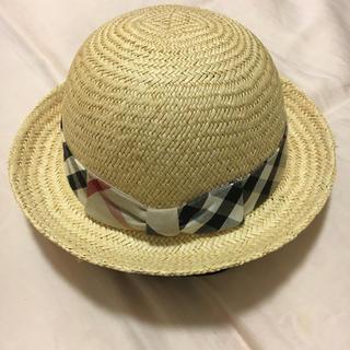 バーバリー(BURBERRY)のBurberry 麦わら帽子 48 専用出品(帽子)