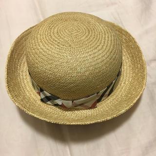 バーバリー(BURBERRY)のBurberry麦わら帽子 54(帽子)