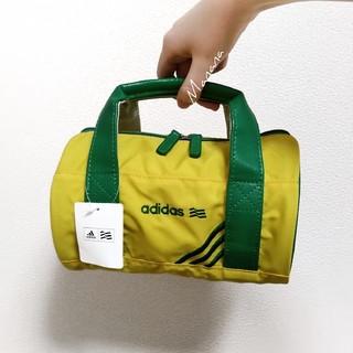 アディダス(adidas)の【新品タグ付き】 アディダス ミニ ドラムバッグ 黄色 緑(ハンドバッグ)
