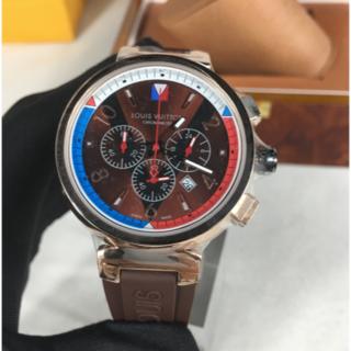 ルイヴィトン(LOUIS VUITTON)の腕時計 LOUIS VUITTON ヴィトン 保存箱付き クォーツ メンズ 人気(ラバーベルト)