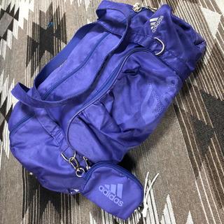 アディダス(adidas)のアディダス  ボストンバッグ 紫(ボストンバッグ)