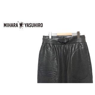 ミハラヤスヒロ(MIHARAYASUHIRO)のMIHARA YASUHIRO コーティング バイカー スウェット パンツ(その他)