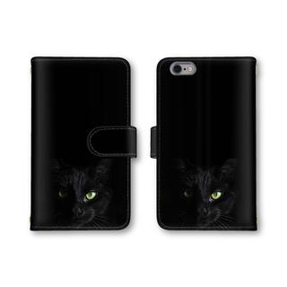 727de02a28 黒 黒猫 カッコイイ スマホケース 送料無料 手帳型ケース カバー ねこ ネコ(スマホケース)