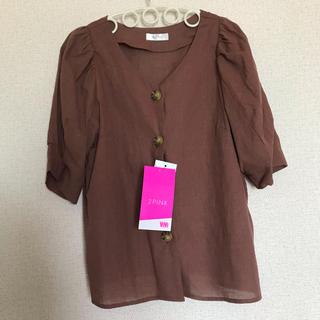 シマムラ(しまむら)の2pink パフスリーブシャツ vivi しまむら(シャツ/ブラウス(半袖/袖なし))